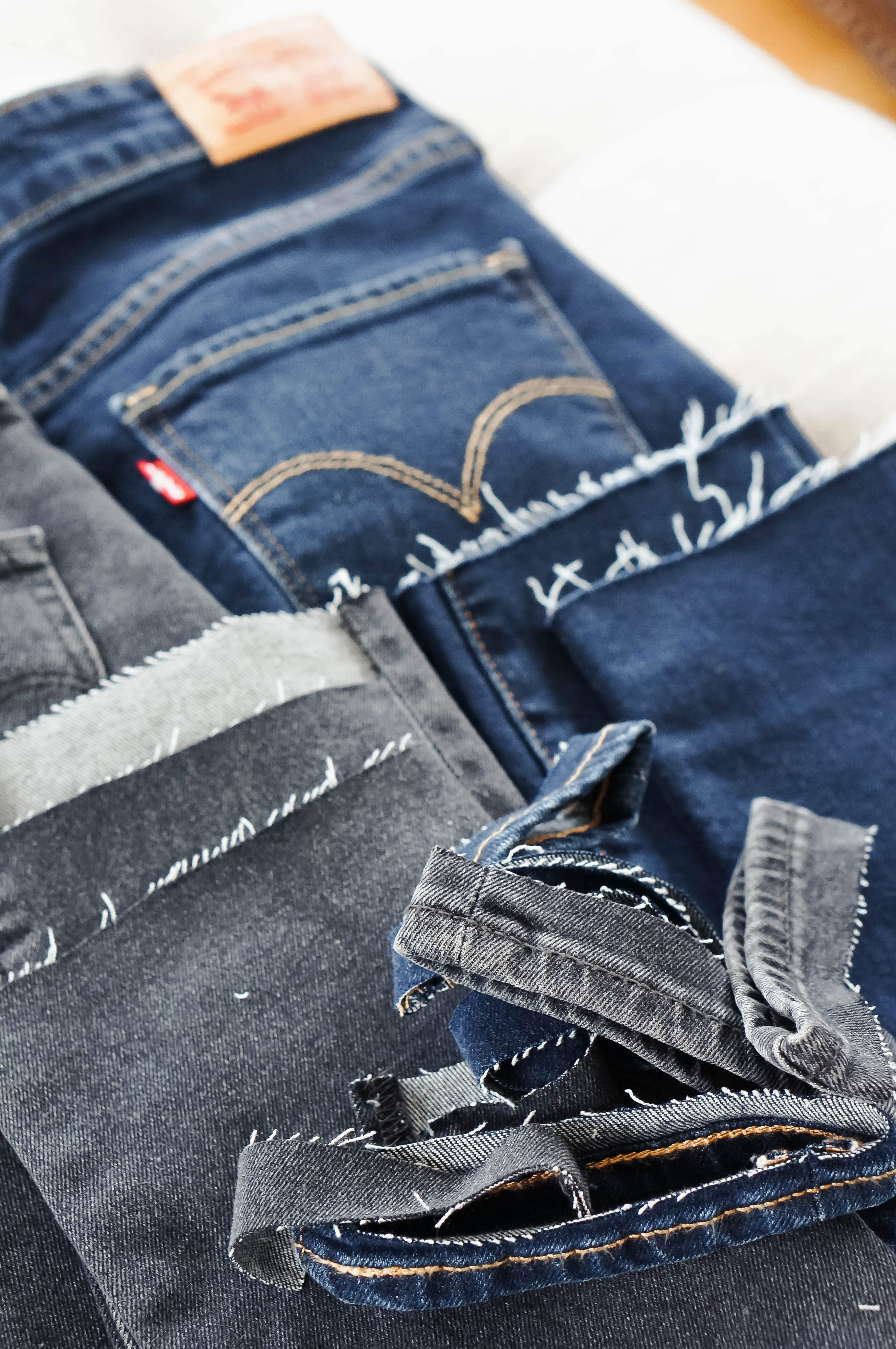 DIY: How To Cut The Hem Off Jeans | Red White & Denim
